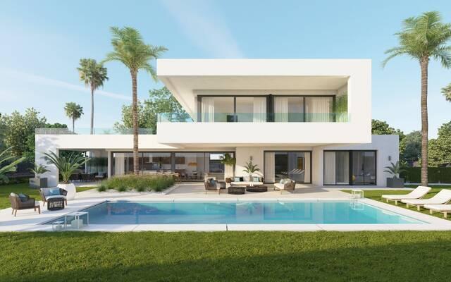 """Villas """"Exclusive community of elegant high quality modern villas"""" Calle el Califa, Nueva Andalucia"""